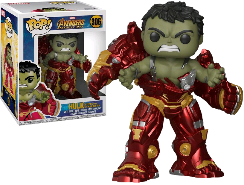 Funko Pop Vinyl Hulk Busting Out of Hulkbuster (Marvel) Avengers   306 Sealed 6
