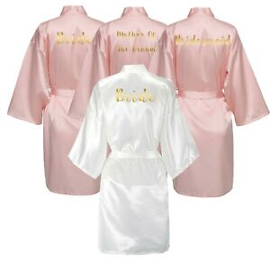 2571ad8dc3 Blush Women Satin Silk bride robe Wedding Robe Bridesmaid Bride ...