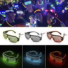 LED Glow EL Glasses Shades Light Up Flashing Blink Sunglasses Bar Party Rave Hot