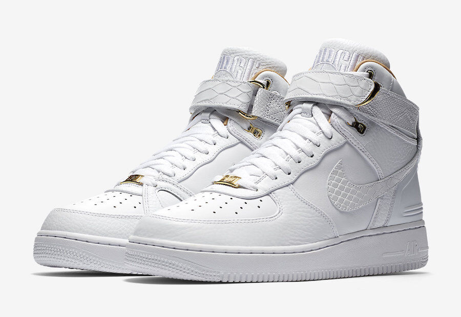 Nike Air Force 1 High Just Don AF100 Don C White gold AO1074-100 size 9 10