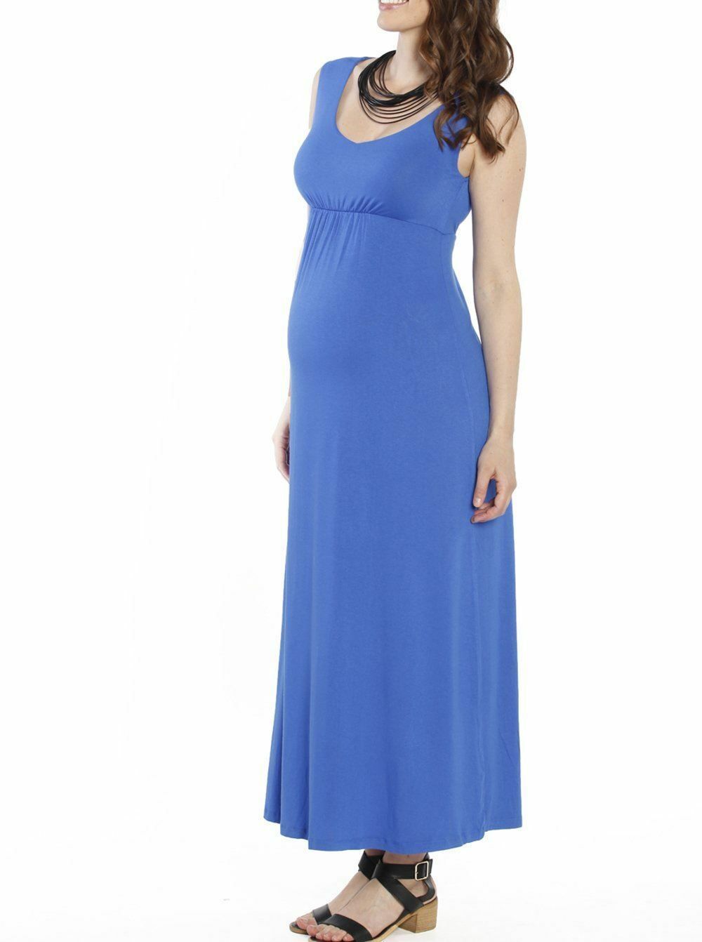 Maternity Ultimate Comfortable Maxi Dress - bluee