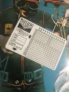 HEUER-Diver-Table-Tabella-Decompressione-Vintage-Wach-90-s-Rare