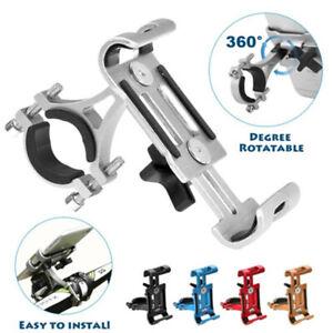 Aluminum-Bike-Bicycle-Handlebar-Stand-Mount-Holder-Bracket-For-Mobile-Cell-Phone