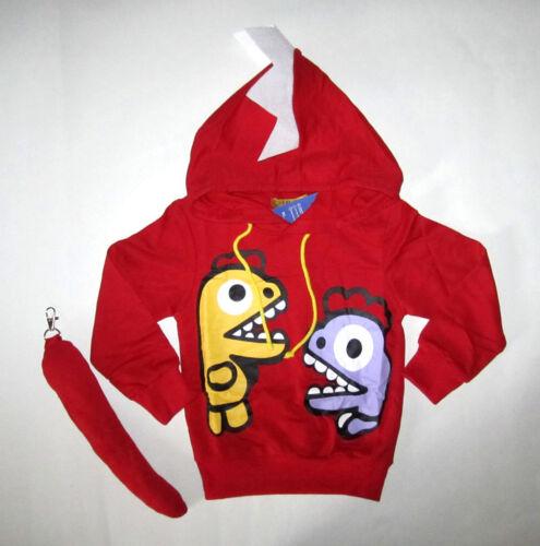 Lindo Dinosaurio Con capucha Prendas para el torso del Niño Bebé Niños Niñas Sudadera Con Capucha Top Puente