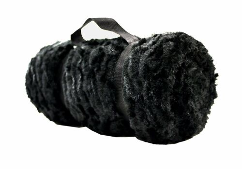 Plaid tout doux Polyester Noir 180 x 130 cm Linder