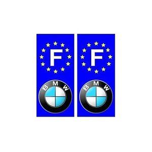 BMW-F-voiture-autocollant-plaque-droits