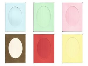 6 x 4 oval windowaperture card blanks perfect for your diy image is loading 6 034 x 4 034 oval window aperture m4hsunfo
