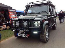 land rover defender 7'' Black LED High Out Put Head Lights great wrangler golf