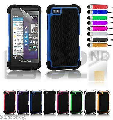 32nd Dual-Layer Shockproof Case Cover Blackberry Z10 + Screen Protector & Stylus
