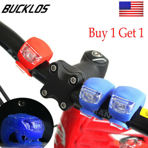 2PCS Bike Light Silicone LED Waterproof Push Tail Light MTB Bicycle Accessories