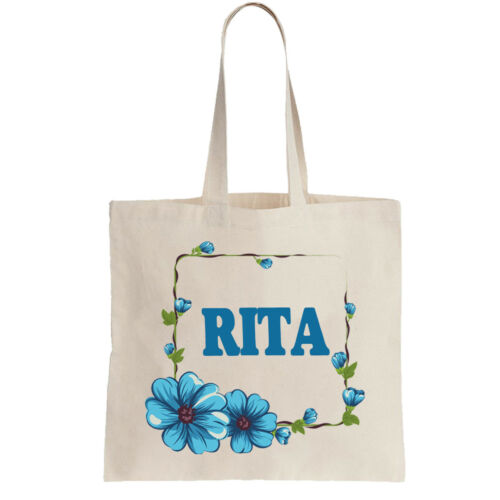 Rita Ladies Personalised Shopping Bag Tote can amend to ANY NAME Shopper