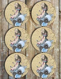 Alice-Coasters-Set-of-6-Neoprene-Coasters-Alice-In-Wonderland