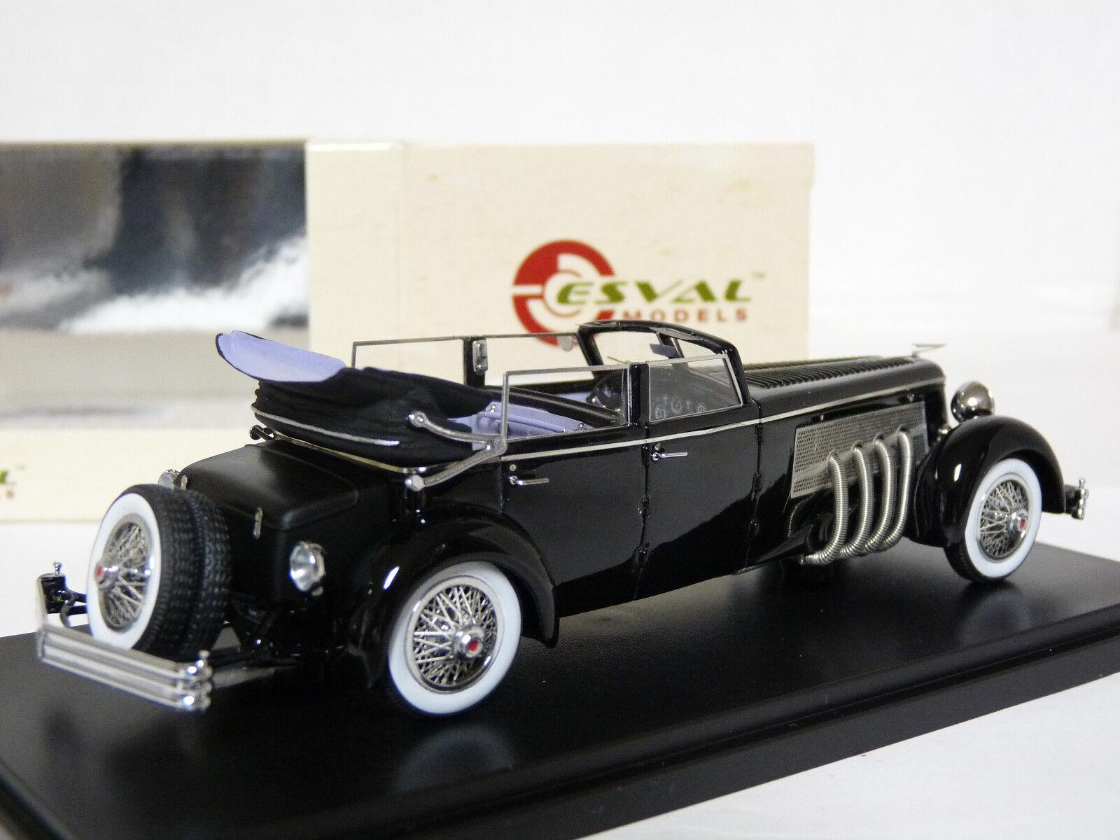 Esval EMUS43004D 1 43 1937 1937 1937 Duesenberg SJ Town Car Rollson Resin Model Car 0ceeae
