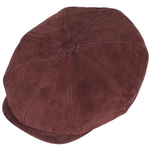 Stetson Hatteras Nubuck Leather Bakerboy Cap