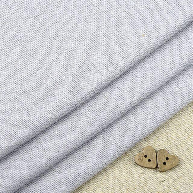 Robert Kaufman Washer, pale silver grey, linen blend fabric / quilting elephant