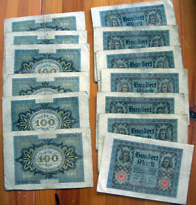 WHOLESALE-100-WELL-USED-GERMANY-PICK-69-HORSEMEN-of-BAMBERG-BANK-NOTES-of-1920