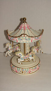 San Francisco Music Box Co Carousel Collection 4 Horses Ltd Edition
