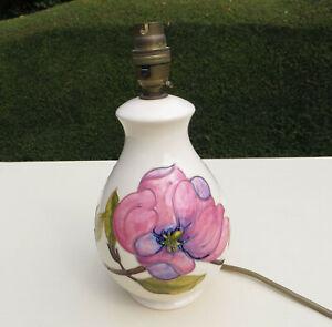 Moorcroft-Pottery-Pink-Magnolia-Lamp-Base-on-Cream-Ground