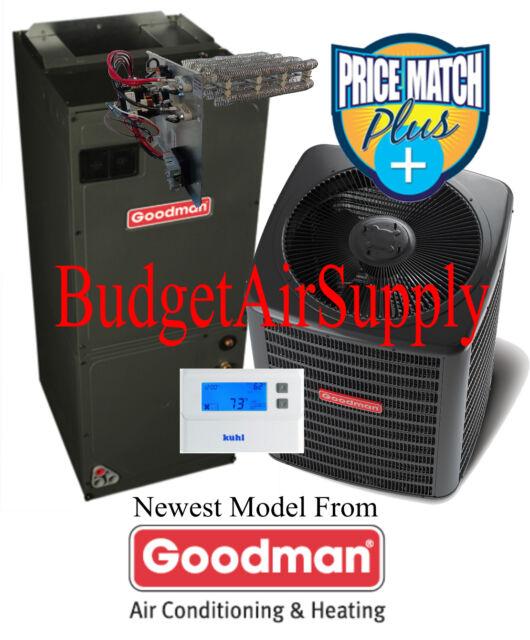 1.5 ton 15 SEER Goodman Heat Pump Multi-Speed GSZ140181+ASPT29B14+Tstat+Heat++