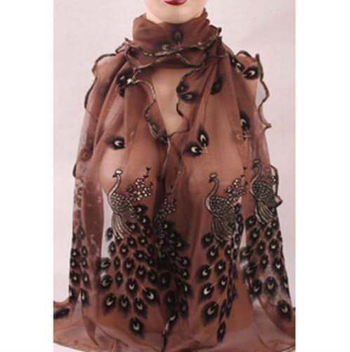 Soft Transparent Shawl And Scarves Lady/'s Fashion Silk Chiffon Long Wraps Stoles