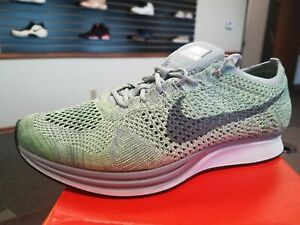 01f496ef424c Brand New Nike Flyknit Racer MACAROON PACK COOL GREY GHOST GREEN ...