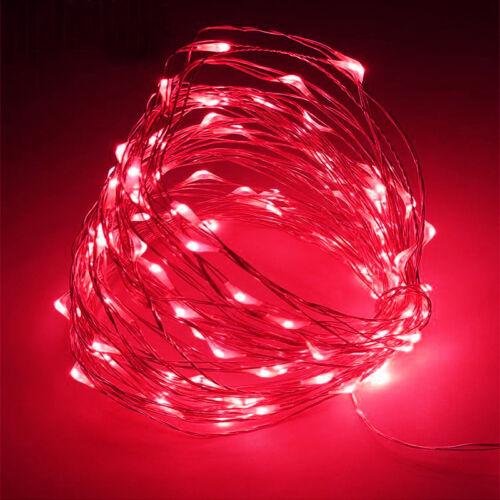 50 100LED Batterie Micro Reis Draht Kupfer Fairy String Licht Partei Weiß //RGB