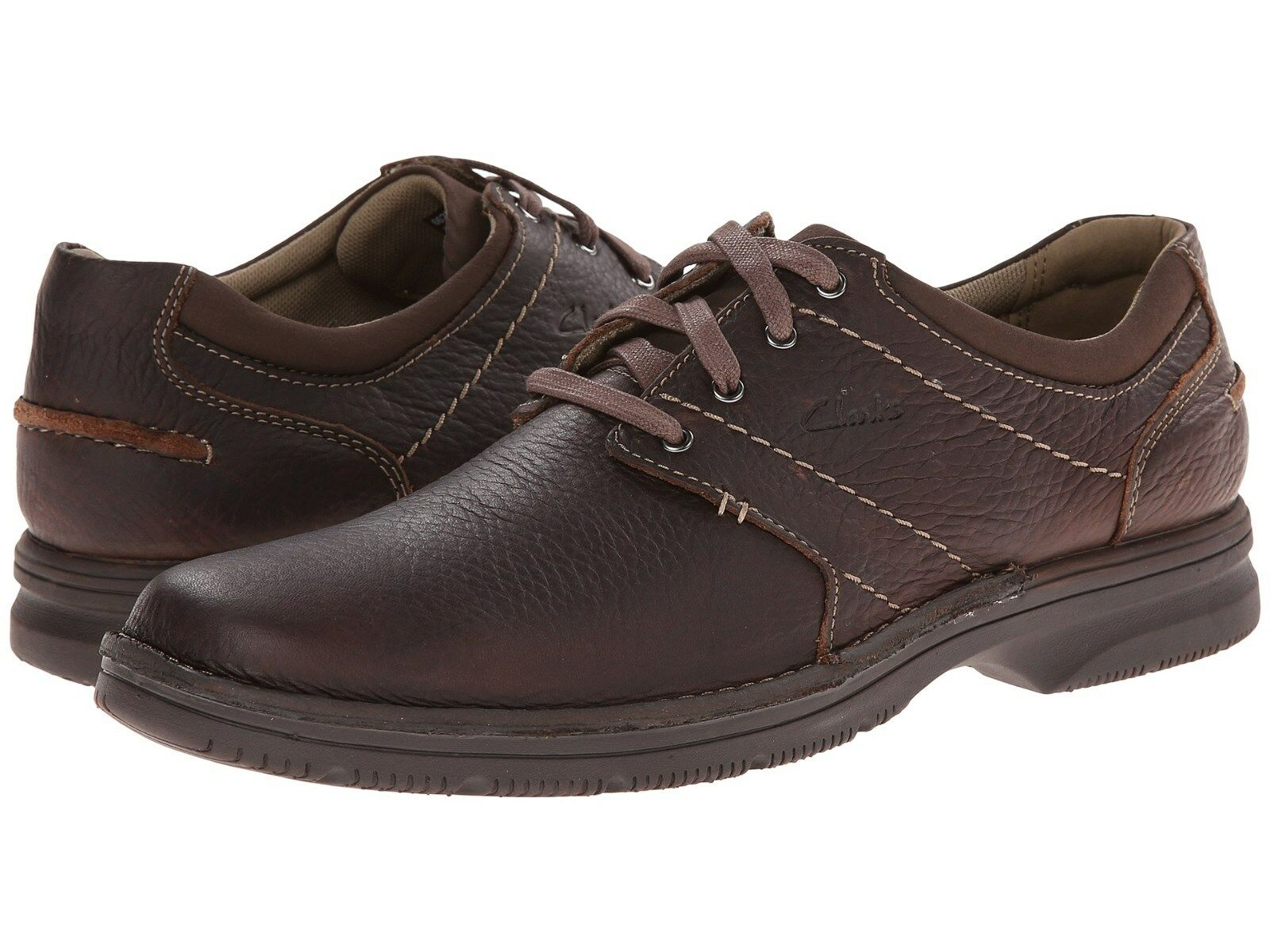 Scarpe casual da uomo  uomos Clarks Senner Place Lace Up Shoe Brown Tumbled Leather 26066255
