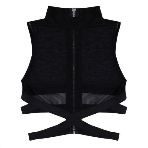 Women Sleeveless Crop Top T-Shirt Vest Bralette Bralet Bra Bustier Cami Tank Top