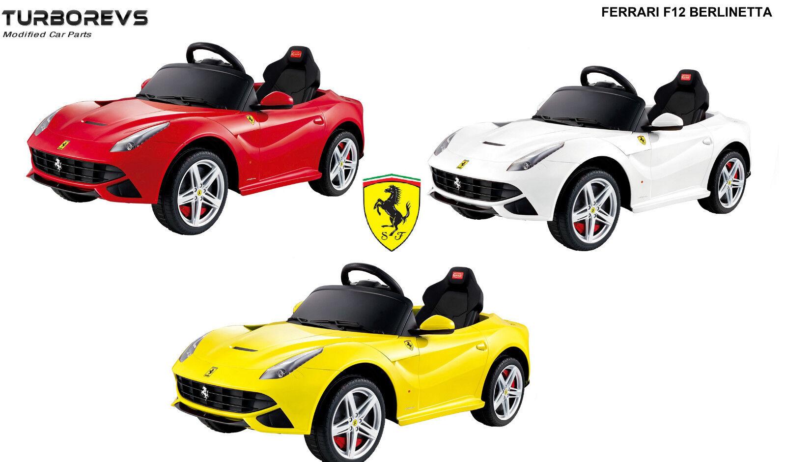 NEW 12V FERRARI 12V OFFICIAL LICENSED RIDE ON KIDS ELECTRIC CAR PARENTAL  REMOTE