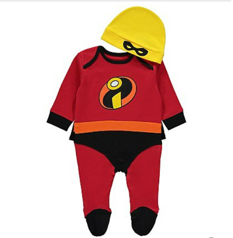 Brand new Disney Incredibles All in One with Hat 3-6 months old