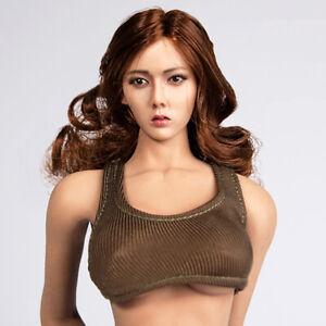 1-6-Scale-Model-Hot-Vest-12inch-Female-Action-Figure-White-Black-Dark-Green