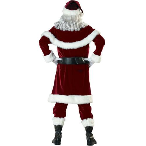 Men/'s Cosplay Christmas Santa Claus Costume Fancy Dress Adult Suit Party Outfit