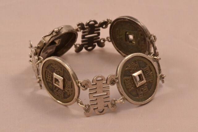 Thomas Sabo Armband NEU BOHO BRAUN ag 925 vergoldet Coin LBA0038-872-7-L 16,5 cm
