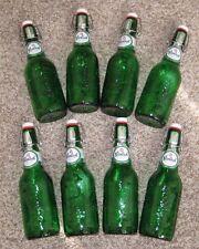 GROLSCH Swing Top Green Beer Bottles w/resealable flip top, Lot of 8,  15.2 oz