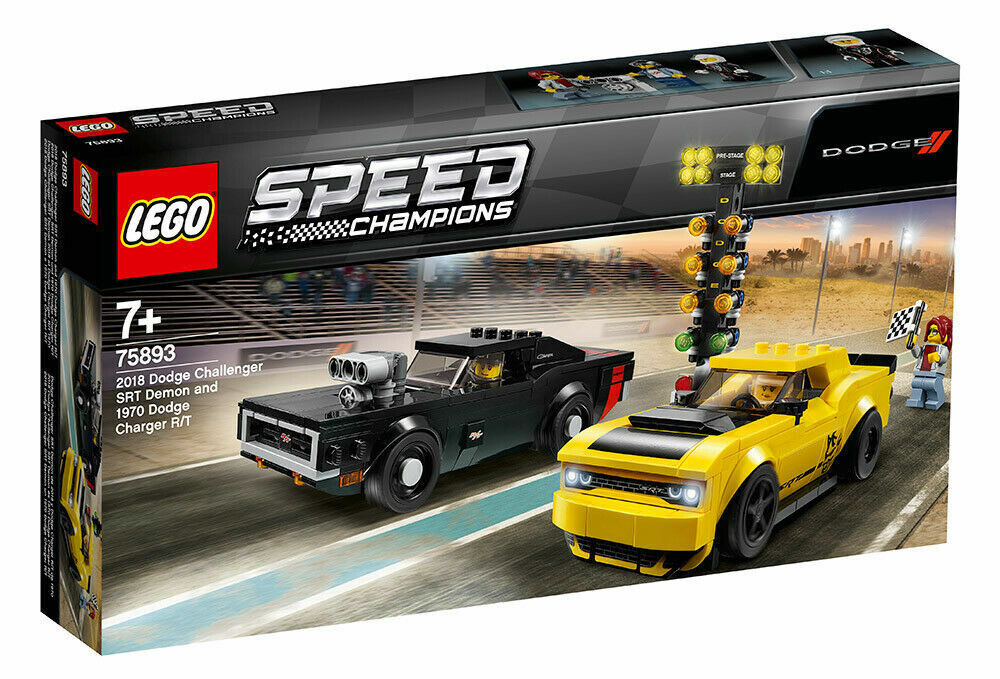 LEGO SPEED CHAMPIONS 2018 DODGE CHALLENGER SRT DEMONE E 1970 DODGE - LEGO 75893