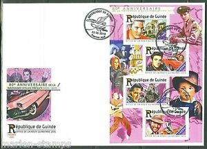 GUINEA 2015 80th BIRTH ANNIVERSARY OF ELVIS PRESLEY SHEET FDC