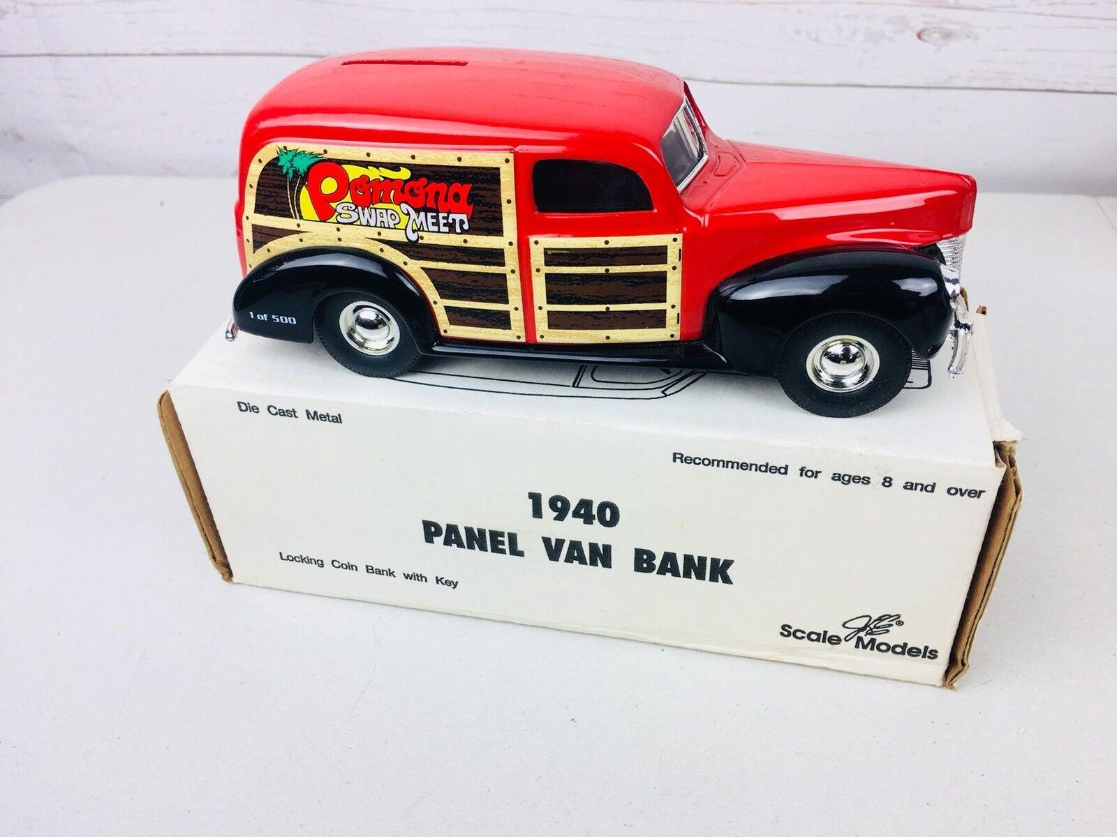 Ertl  GD6035 Pomona Swap Meet 1940 Delivery Van Die Cast metal Bank Made in USA