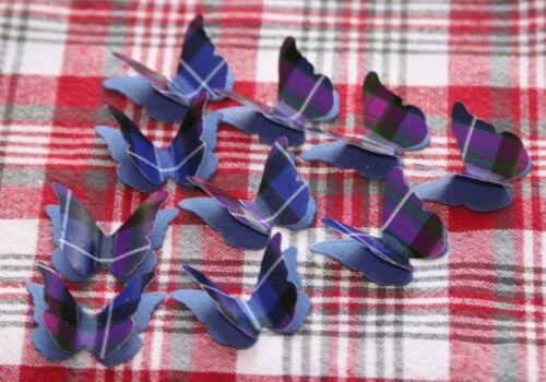 cartes Pride of Scotland 25 Tartan Papillon 3D Mariage Confettis Burns Night