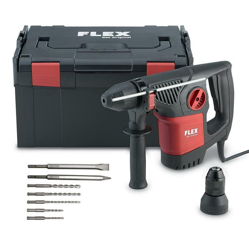 Flex Bohrhammer CHE 4-32 R SDS-Plus inkl. Wechselfutter, L-Boxx, 7 tlg. Zubehör