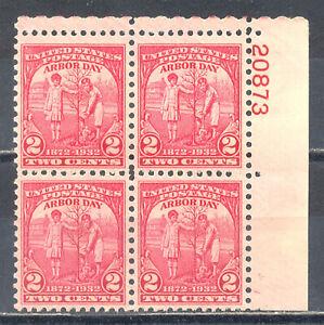 US-Stamp-L219-Scott-717-Mint-NH-OG-Nice-Plate-Block