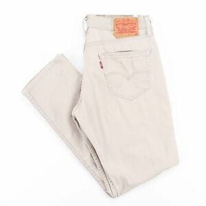 Vintage-Levi-039-s-511-Slim-Coupe-Droite-Homme-Beige-Jeans-W31-L30