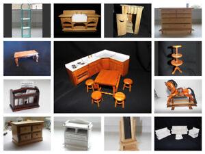 Mobili Della Sala Da Pranzo : Casa delle bambole sala da pranzo mobili cucina toilette tavolo