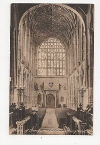 Nave-of-Sherborne-Abbey-Vintage-Postcard-176a