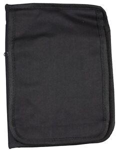 Kombat imperméable entièrement zippé portable titulaire A5 Noir  </span>