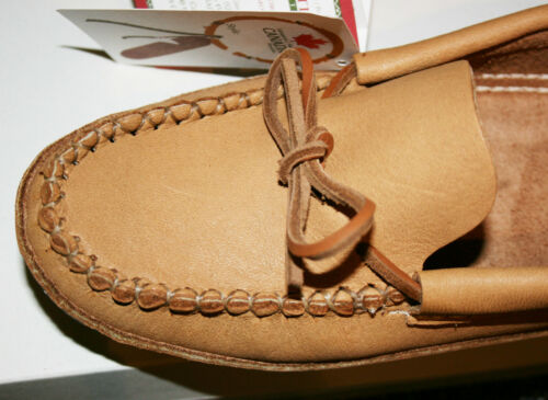 B489 Moccasin indian Huron Man manufactured in Canada