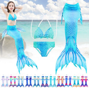e7a058242cda Girls Kids Mermaid Tail Beach Pool Party Bikini Sets Swimsuit ...