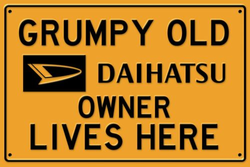 man cave home Daihatsu owner lives here sign for garage