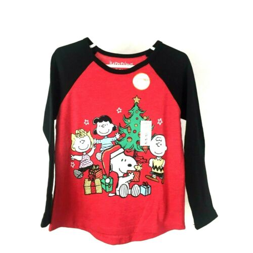 NWT Jumping Beans Girls Long Sleeve Charlie Brown Christmas Tee Shirt Size 4T