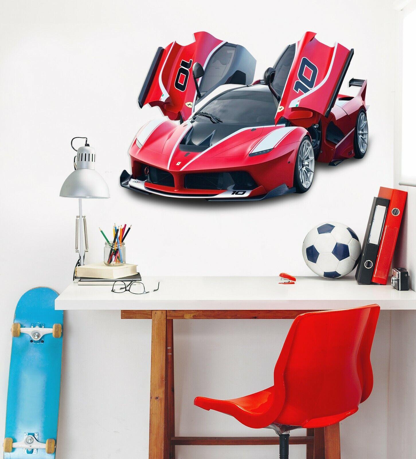 3D Ferrari N02 Car Wallpaper Mural Poster Transport Wall Stickers Amy