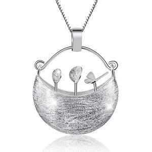 Handmade-Flower-Basket-Pendant-for-Women-Solid-925-Sterling-Silver-Fine-Jewelry